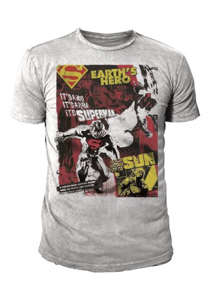 DC Comics - Superman Herren T-Shirt - Earths Hero