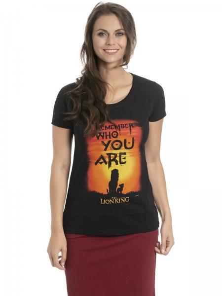 Walt Disney König der Löwen Who you Are Damen T-Shirt Schwarz