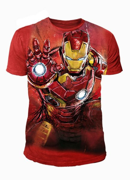 Iron Man - Avenger Herren T-Shirt Rot