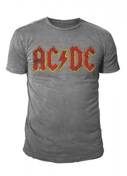 AC DC Classic Logo Vintage Herren T-Shirt