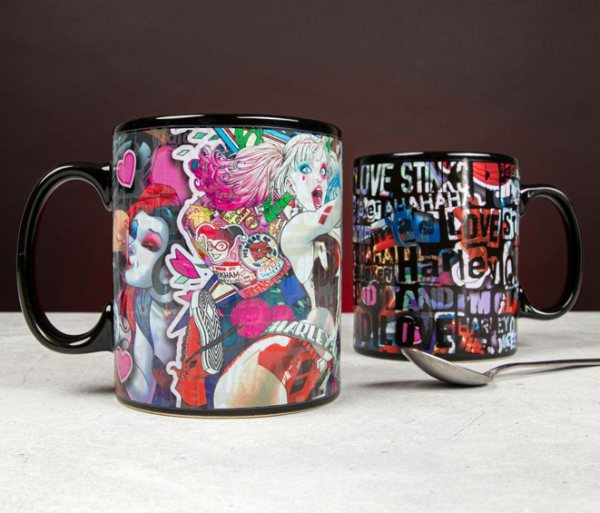 Harley Quinn Birds of Prey Thermoeffekt XXL Tasse