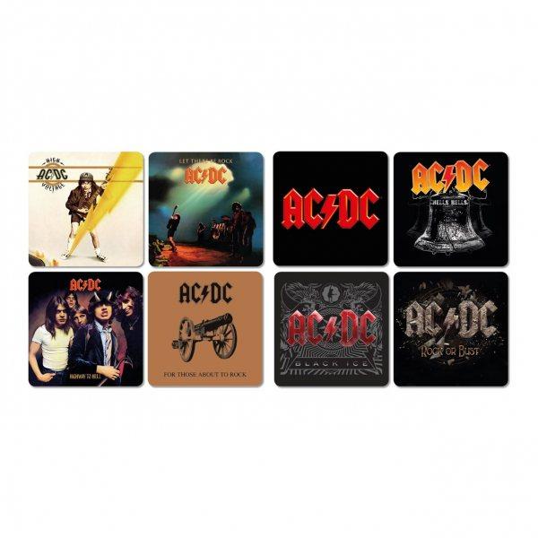 AC DC Album Untersetzer 8er Set Kork