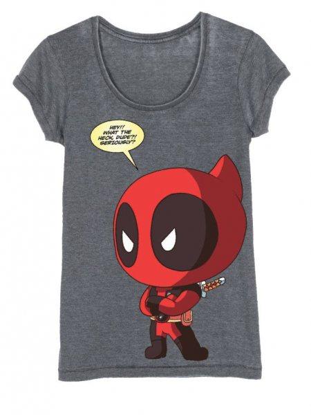 Deadpool Chiby Vintage Damen T-Shirt