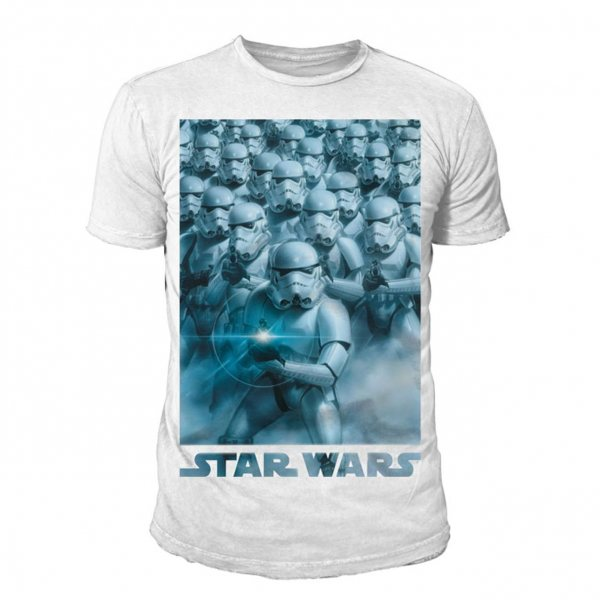 Star Wars Band of Troopers Herren T-Shirt Weiss