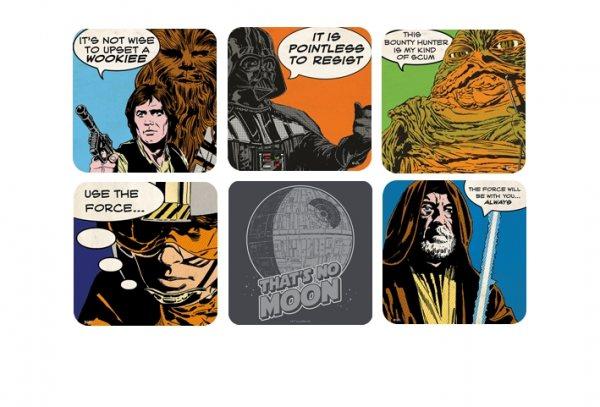 Star Wars - Comic Shots Untersetzer 6er Set