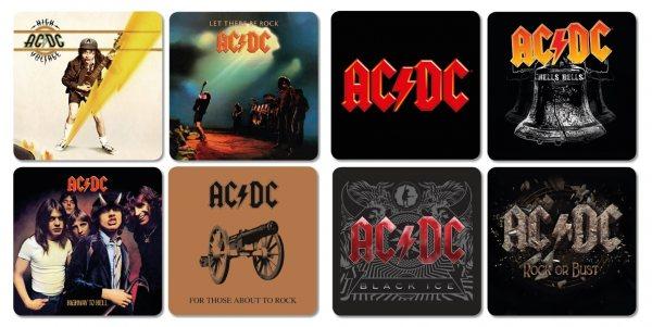AC DC Album Untersetzer 8er Set