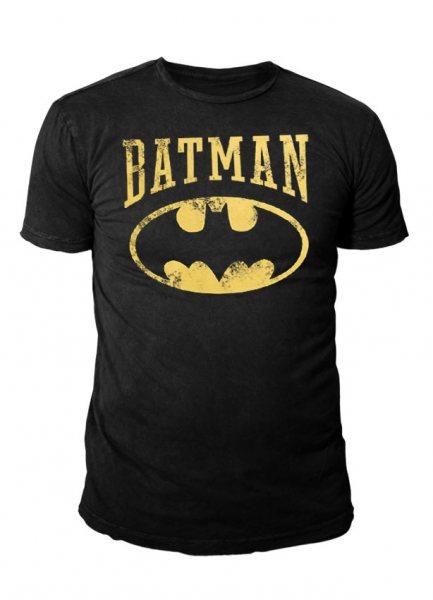 DC Comics - Batman Herren T-Shirt - Vintage Logo (schwarz)