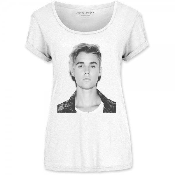 Justin Biber My World T-Shirt Damen Weiss