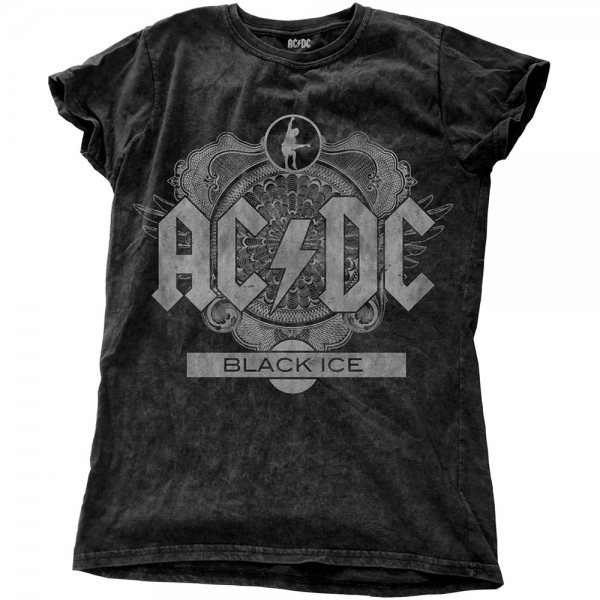 AC DC Black Ice T-Shirt Damen Vintage