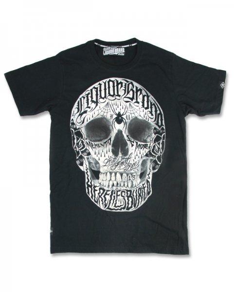 Liquor Brand Life Fast Tattoo Herren T-Shirt