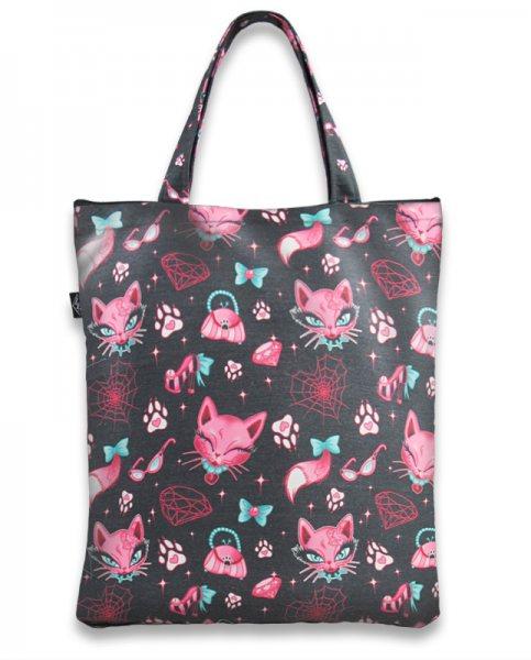Liquor Brand Miss Kitty Katzen Damen Shopper Tasche