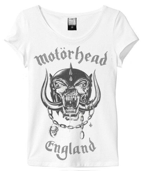 Amplified Motörhead England T-Shirt Damen Weiß