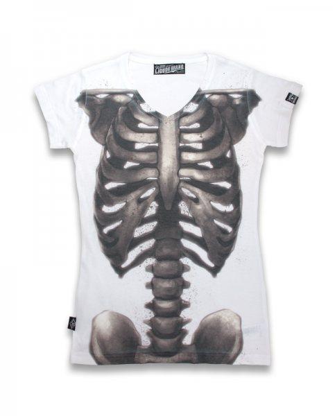 Liquor Brand - Ripcage Skull Damen T-Shirt