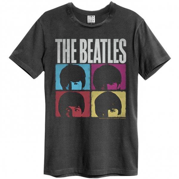 Amplified Beatles Hard Days Night T-Shirt Herren Grau