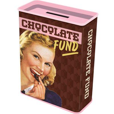 Retro Blech-Spardose - Chocolate Fund!