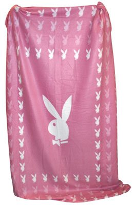 Playboy - Classic Fleecedecke - Bunny Square - rosa