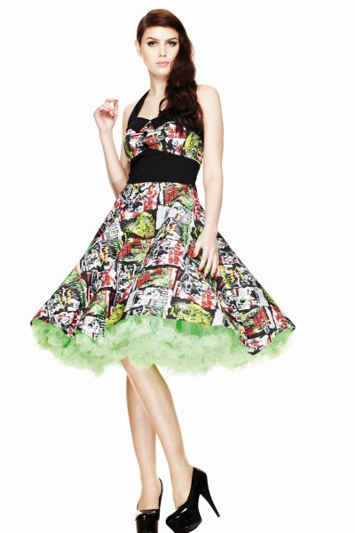 Hell Bunny - Be Movie 50s Pin Up Damen Kleid