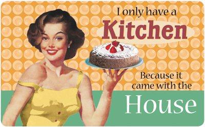 Frühstücksbrettchen - I only have a kitchen!