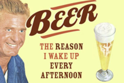 Retro 50er Jahre Metall Magnet Quer - Beer: The Reason