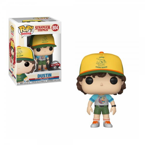 Stranger Things Dustin Camp Outfit Special Edition Funko Pop Vinyl Figur 804