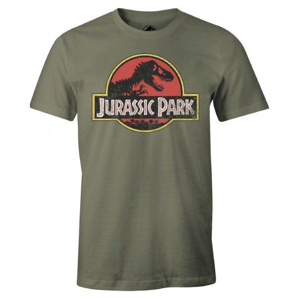 Jurassic Park Logo T-Shirt Oliv
