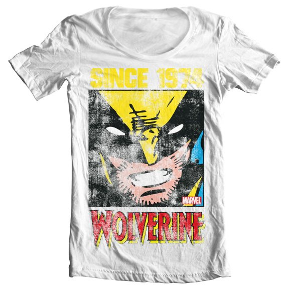 Marvel Comics Wolverine Since 1974 Superhelden Damen Girlie T-Shirt