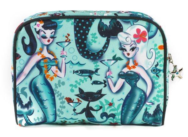 Fluff - Martini Girls Damen Beauty Case Kosmetiktasche