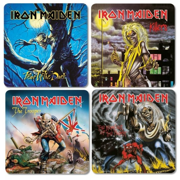 Iron Maiden Album Cover Untersetzer Set