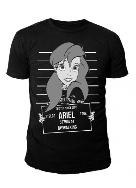 Twisted Arielle Mugshot Tattoo Herren T-Shirt