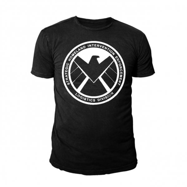 Marvel Captain America Enforcement Logo T-Shirt Schwarz