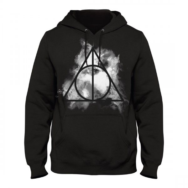 Harry Potter Deathly Hallow Herren Kapuzenpullover Sweater Schwarz