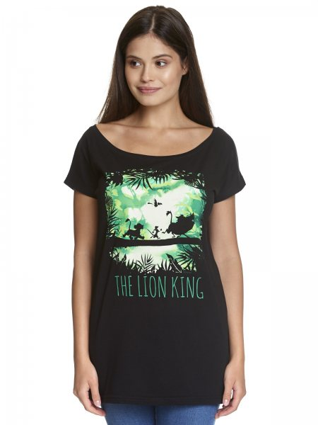 Walt Disney König der Löwen Simba Oversize Damen T-Shirt Schwarz