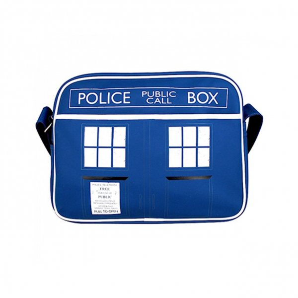 Doctor Who Tardis Retro Messanger Tasche Blau