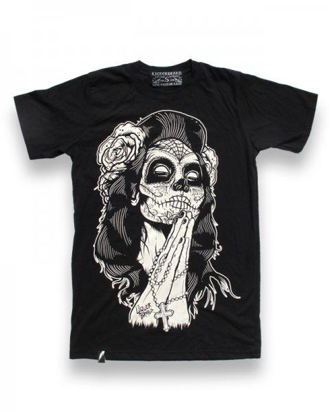 Liquor Brand Del Muerte Herren Tattoo T-Shirt