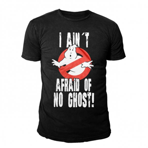 Ghostbusters Afraid No Ghost Herren T-Shirt Schwarz