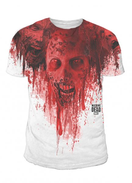Walking Dead Zombie Subli T-Shirt