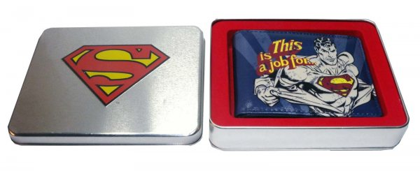 DC Comics - Superman Geldbörse - Logo Blechbox