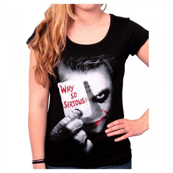 Batman Why So Serious Damen T-Shirt Schwarz