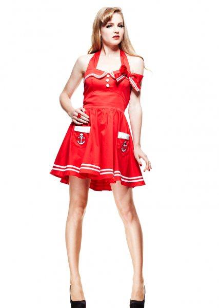 Hell Bunny - Motley Mini Damen Kleid (R/W)
