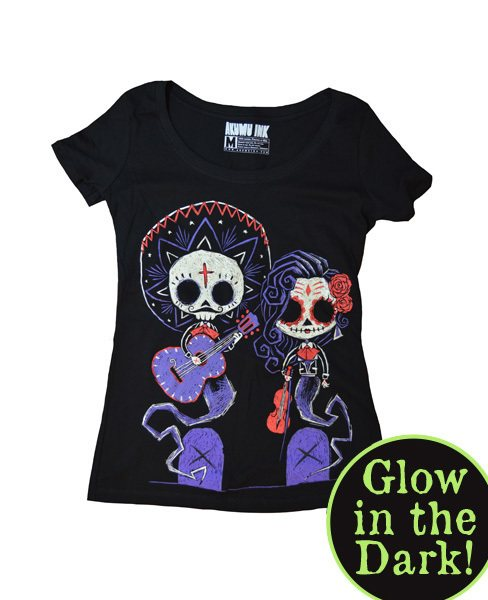 Akumu Ink Timeless Party Glow in the Dark Nightmare Damen T-Shirt