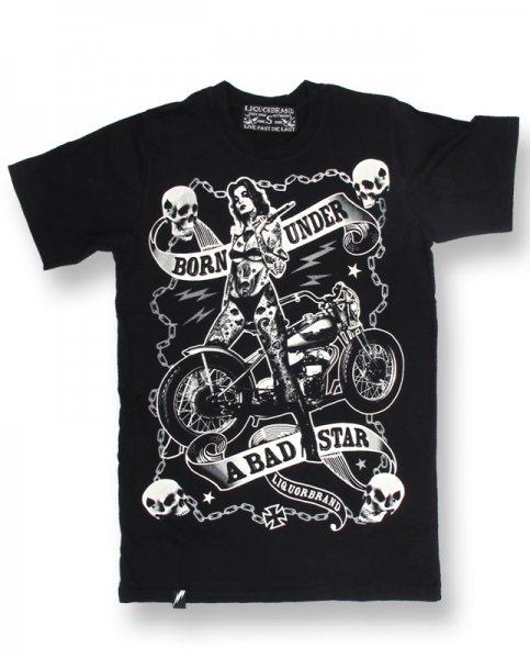 Liquor Brand Biker Chics Herren Tattoo T-Shirt