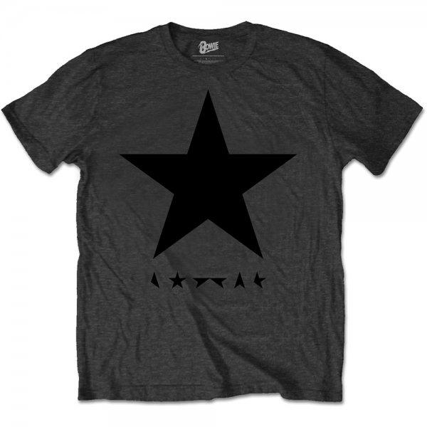 Amplified David Bowie Blackstar Logo T-Shirt Grau Herren