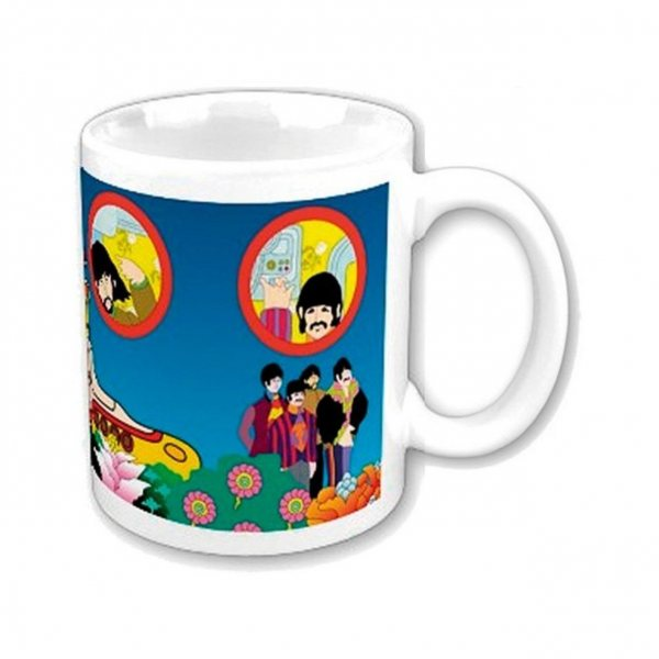 The Beatles Yellow Submarine Comic Tasse Becher im Geschenkkarton
