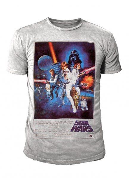 Star Wars - Krieg der Sterne Herren T-Shirt - Affiche (Grau)