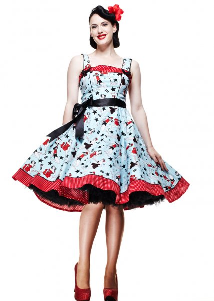 Hell Bunny - Dixie Pin Up 50s Damen Kleid