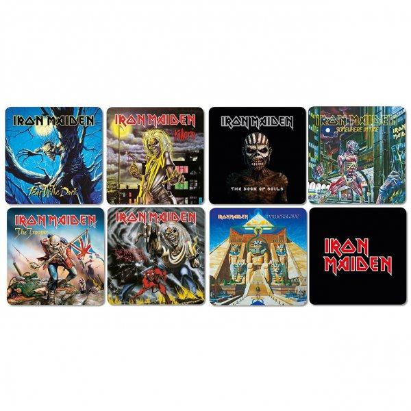 Iron Maiden Best of Untersetzer Set Kork 8er