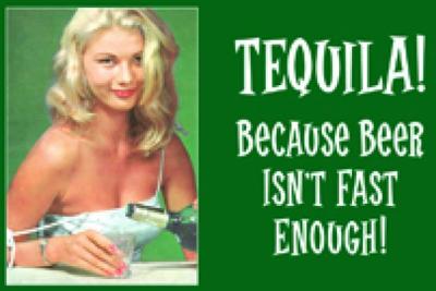 Retro 50er Jahre Metall Magnet Quer - Tequila!
