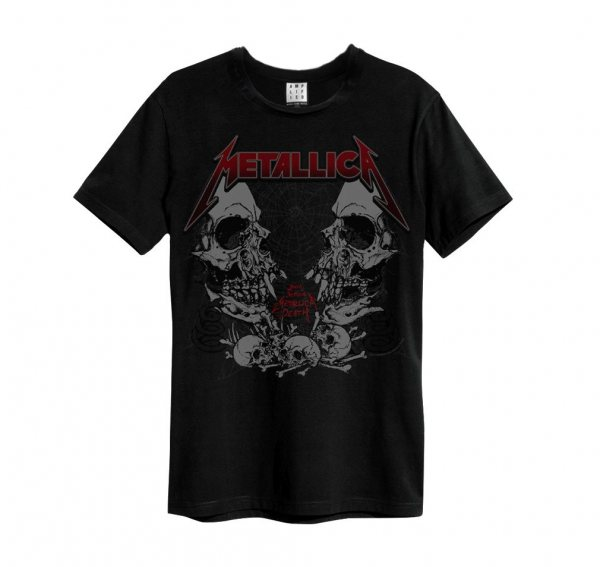 Amplified Metallica Skeleton Skull Logo Vintage Herren T-Shirt