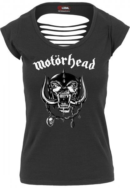 Merchcode Motörhead Logo T-Shirt Damen Rückenfrei