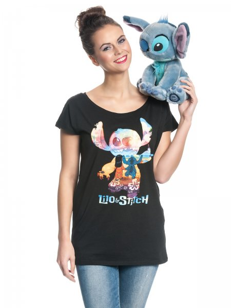 Walt Disney Lilo & Stitch Team Girlie Damen Loose Fit T-Shirt
